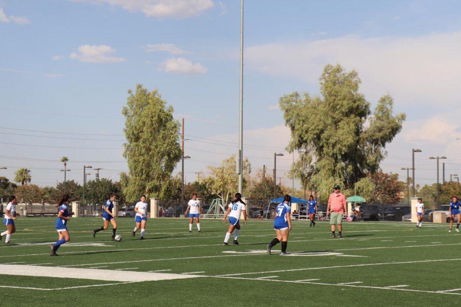 The Desert Pines girls soccer team is back!
